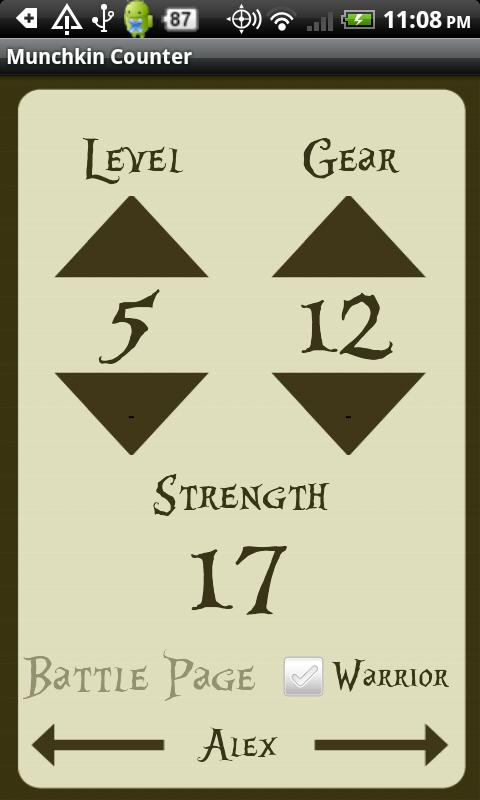 Screenshots of RPG Card Game Level Counter for iPhone
