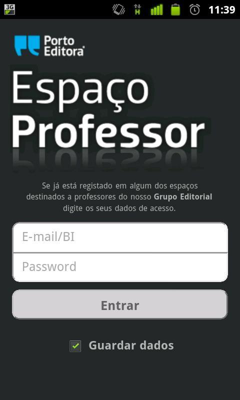 Espaço Professor - screenshot