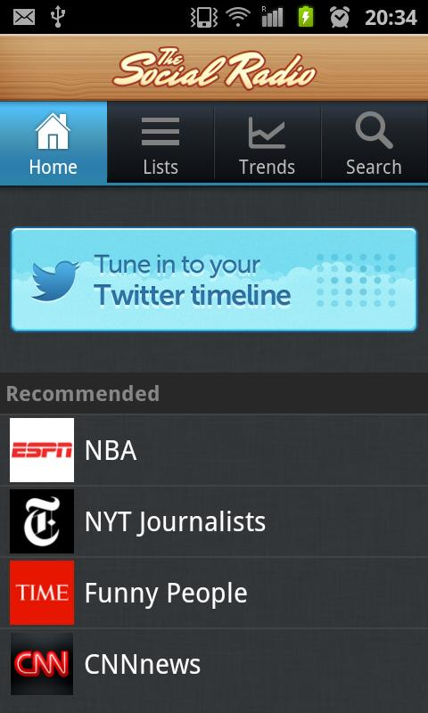 The Social Radio for Twitter - screenshot