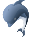 3D Dolphin cool sticker! logo
