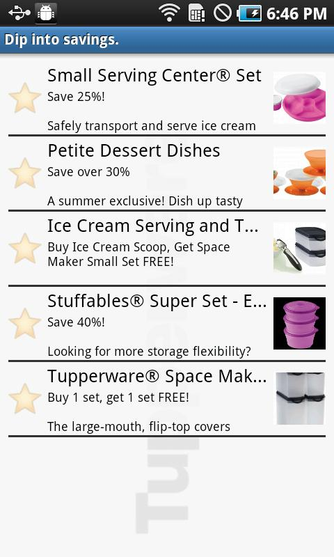 Tupperware US- screenshot