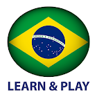 Learn and play. Portuguese + icon