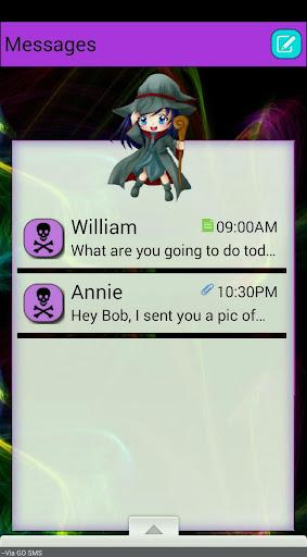 BlueWitch GO SMS THEME