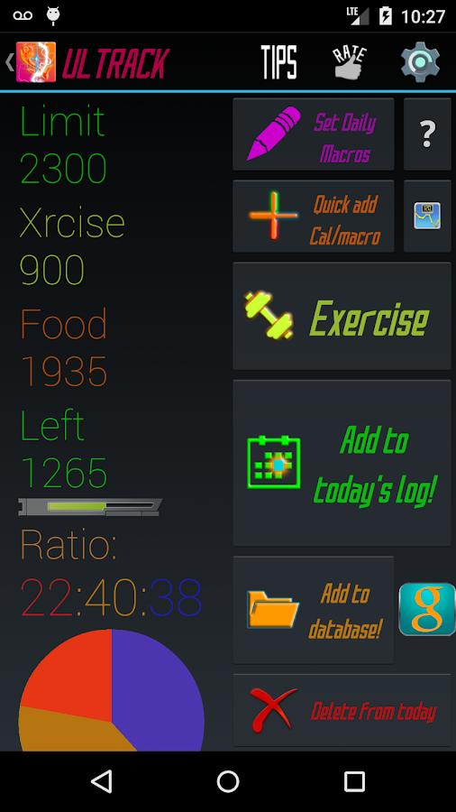 Calorie Counter Macros