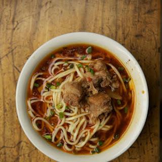 Yu Xiang Pai Gu Mian (Sichuan Noodle and Pork Shoulder Soup).