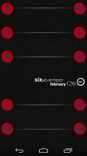 VM4 Red Metallic Icon Set