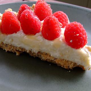 Raspberry Chevre Tart with Poppyseed Shortcrust