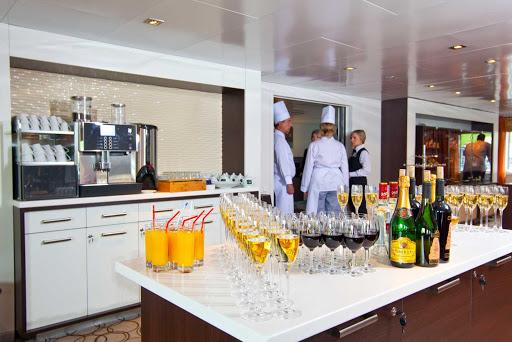 Scenic-Tsar-kitchen - The culinary crew gets preparations underway in the Scenic Tsar kitchen.
