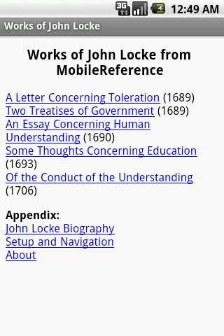 Works of John Locke- screenshot