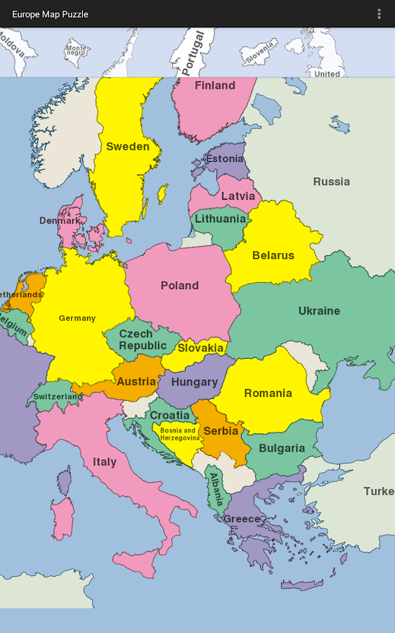 Europe map puzzle android apps on google play europe map puzzle screenshot gumiabroncs Images