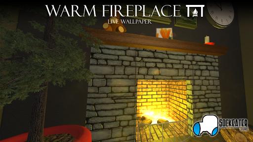 Warm Fireplace Live Wallpaper