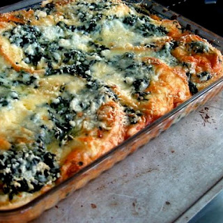 Spinach and Gruyère Strata
