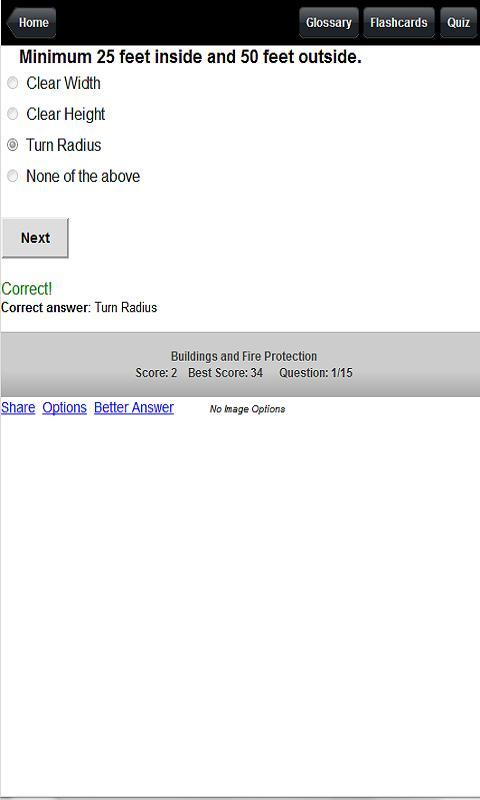 Fireman Pocket Guide & Quiz- screenshot