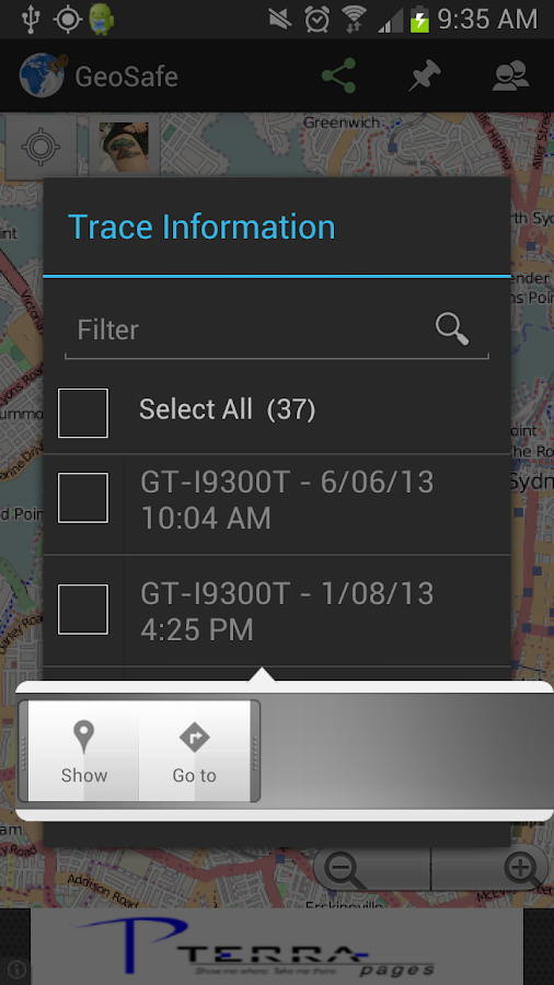 GeoSafe- screenshot