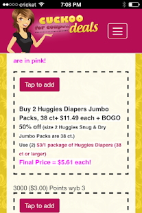 Cuckoo for Coupon Deals- screenshot thumbnail