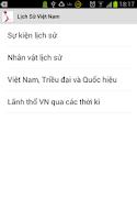 Screenshot of Lịch sử Việt Nam