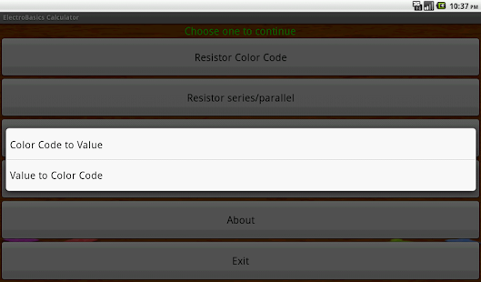 ElectroBasics Calculator screenshot