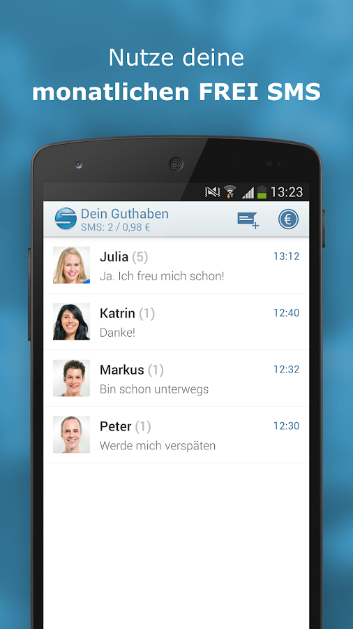 sms.at mobile - gratis SMS - screenshot