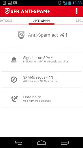 SFR Anti-spam+ SMS et Appels