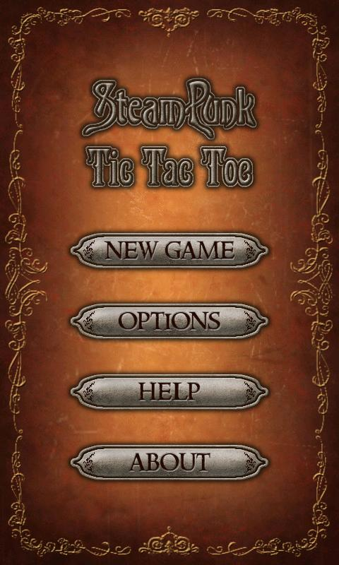 Steampunk Tic Tac Toe - screenshot