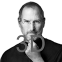 Steve Jobs 3D Memorial logo