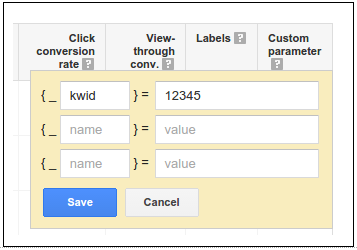 Apply custom keyword parameters
