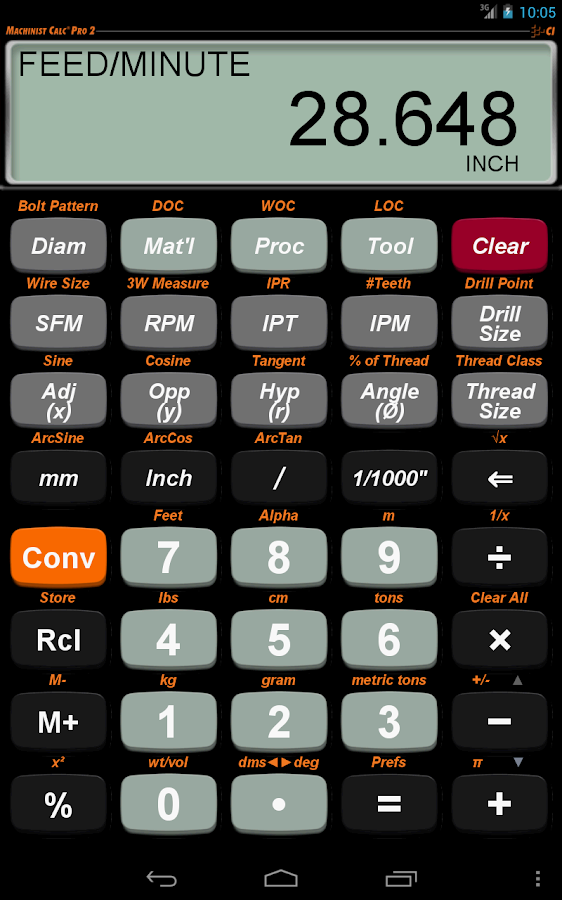 Machinist Calc Pro 2- screenshot