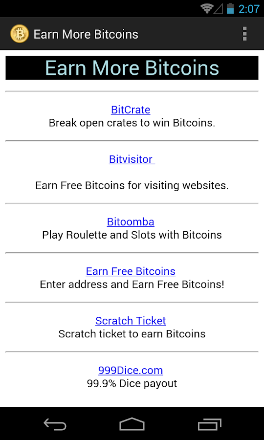 Bitcoin Tapper- screenshot