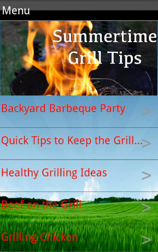 Summertime Grill Tips