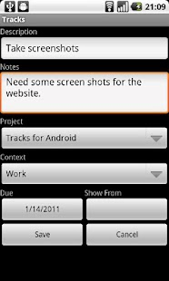 Tracks for Android - screenshot thumbnail