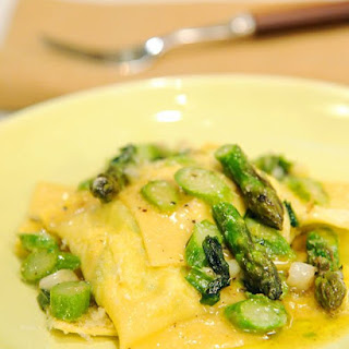 Asparagus and Ricotta Ravioli