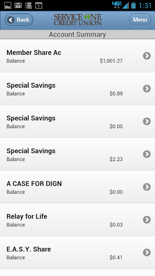 Service One Credit Union - screenshot