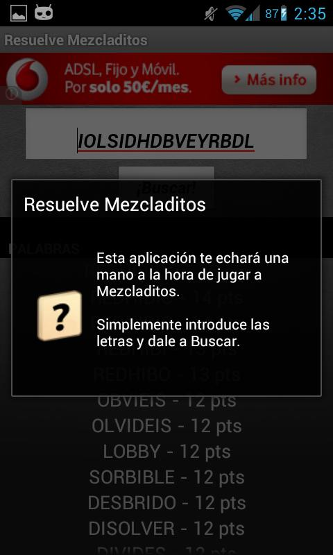 Solve Mezcladitos - screenshot