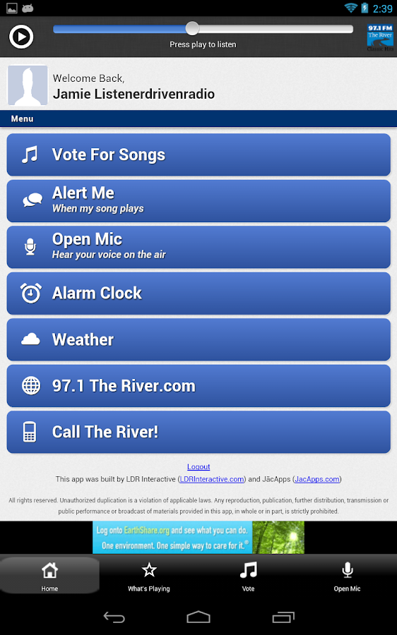 97.1 The River - screenshot