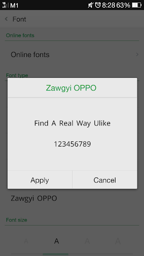 Zawgyi OPPO