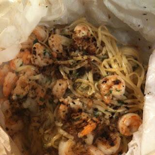 Shrimp Linguine with Garlicvermouthbutter..