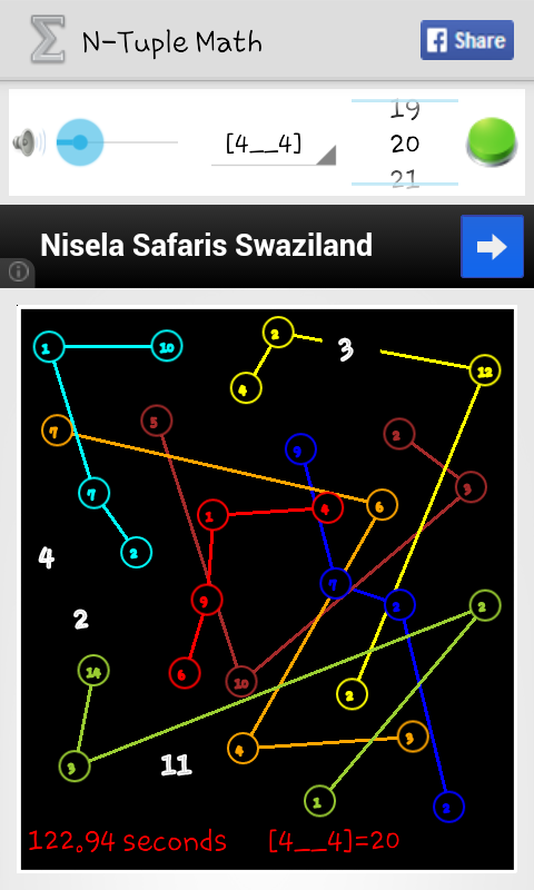 N-Tuple Math - screenshot