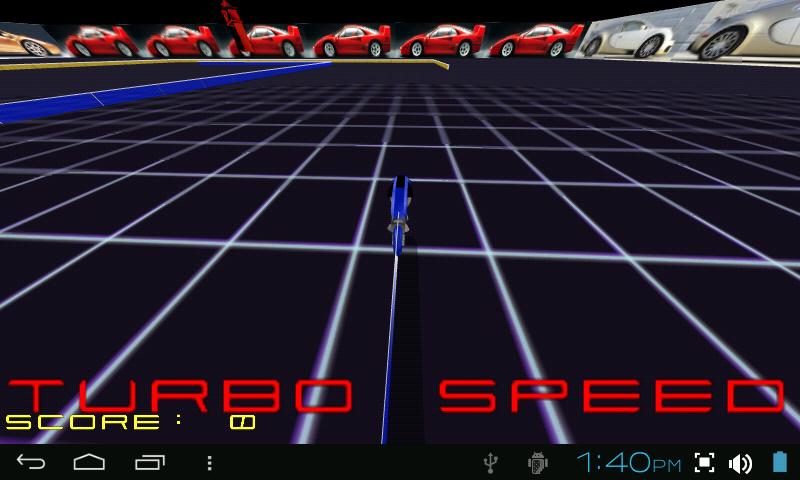 TRON LIGHTCYCLE ROCK RACE GAME - screenshot