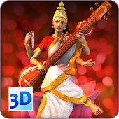 3D Saraswati Live Wallpaper