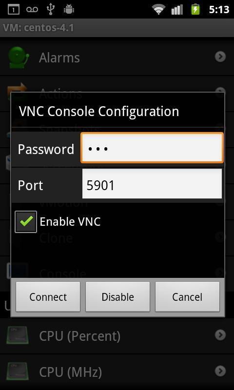 VMConsole - screenshot