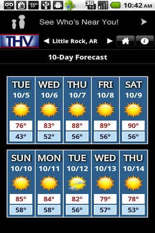 THV Weather - screenshot