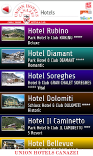 Union Hotels Canazei- miniatura screenshot