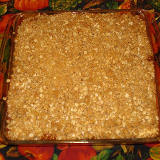 Apple Cream Cheese Crisp With Brown Sugar Topping
