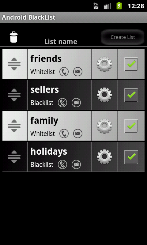 Blacklist ABlacklist - screenshot