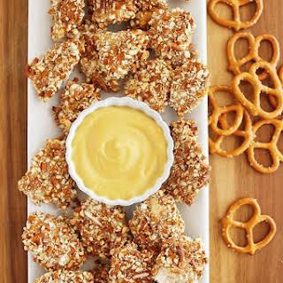 Honey Mustard Pretzel Chicken Bites.