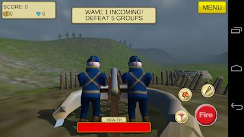 Screenshot of Cannon Shooter : US Civil War
