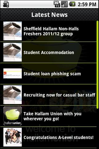 Hallam Union- screenshot