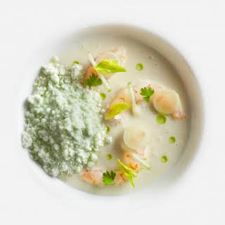 Langoustines with Green Apple Snow.