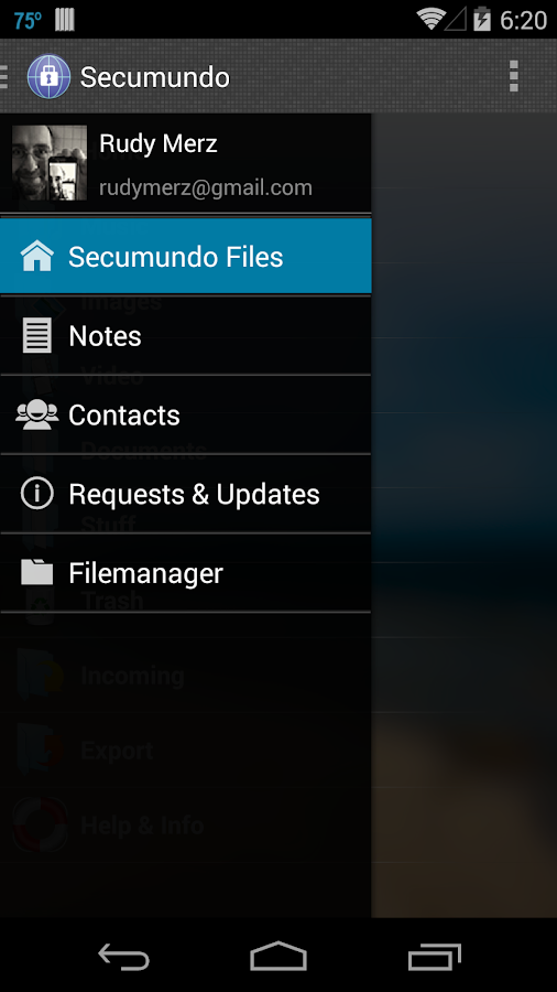Secumundo- screenshot