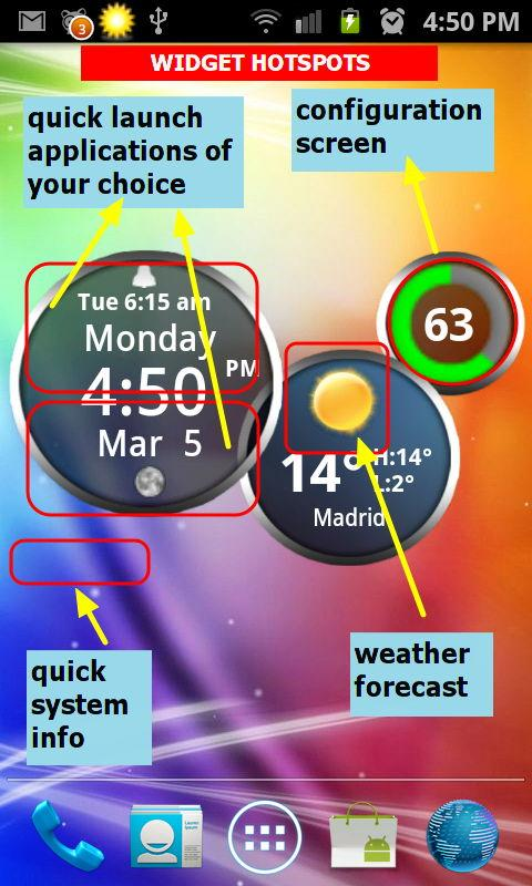 Rings Digital Weather Clock- screenshot